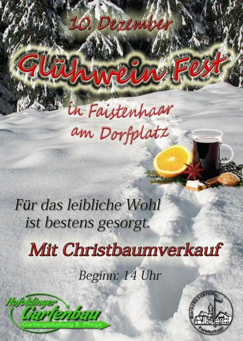 Flayer Glühweinfest 2016 am 10.12.2016