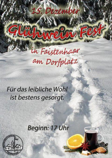 Flayer Glühweinfest Faistenhaar 2018 am 15.12.2018